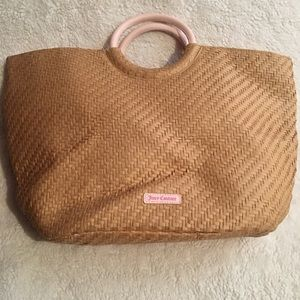 Juicy Couture straw beach bag